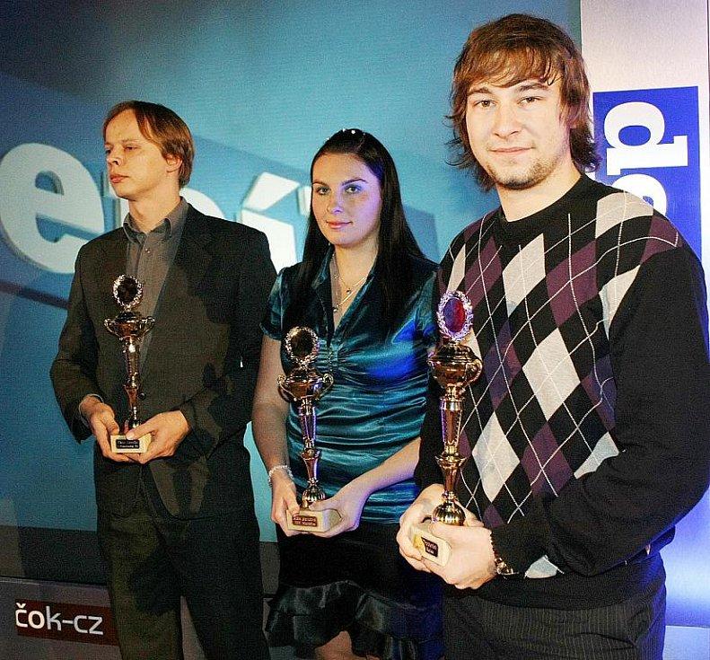 Deník ocenil nejúspěšnější sportovce uplynulého roku. Viktor Novotný, Klára Bartošová a Jan Drobeček.