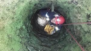Hasiči vytahovali ze studně jezevce