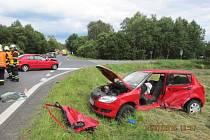 Úterní nehoda u Jablonného v Podještědí.