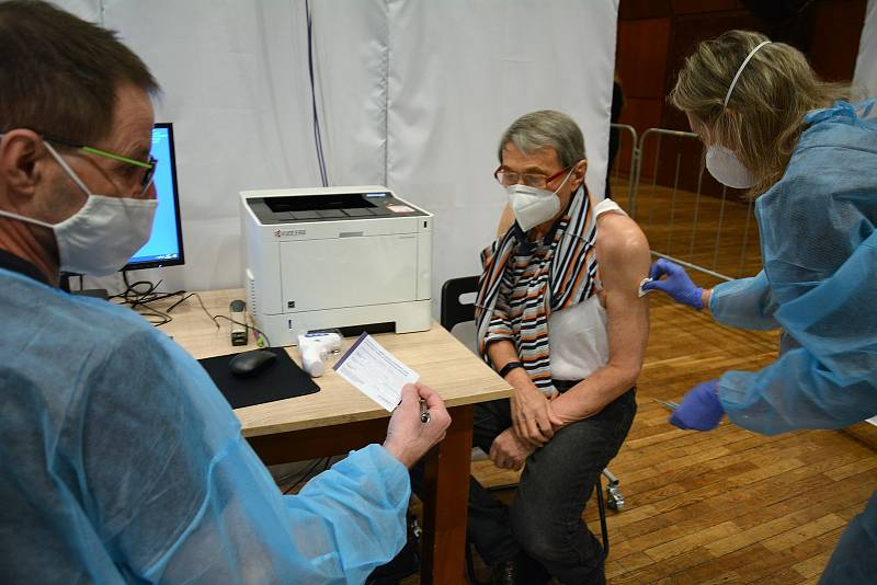Očkování proti covidu v České Lípě.