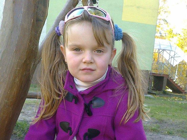 6. Anna Hrušková - 6let, Nový Bor.
