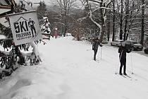 Sněhovou nadílku a desítky kilometrů upravených tratí si na Polevsku užívají běžkaři