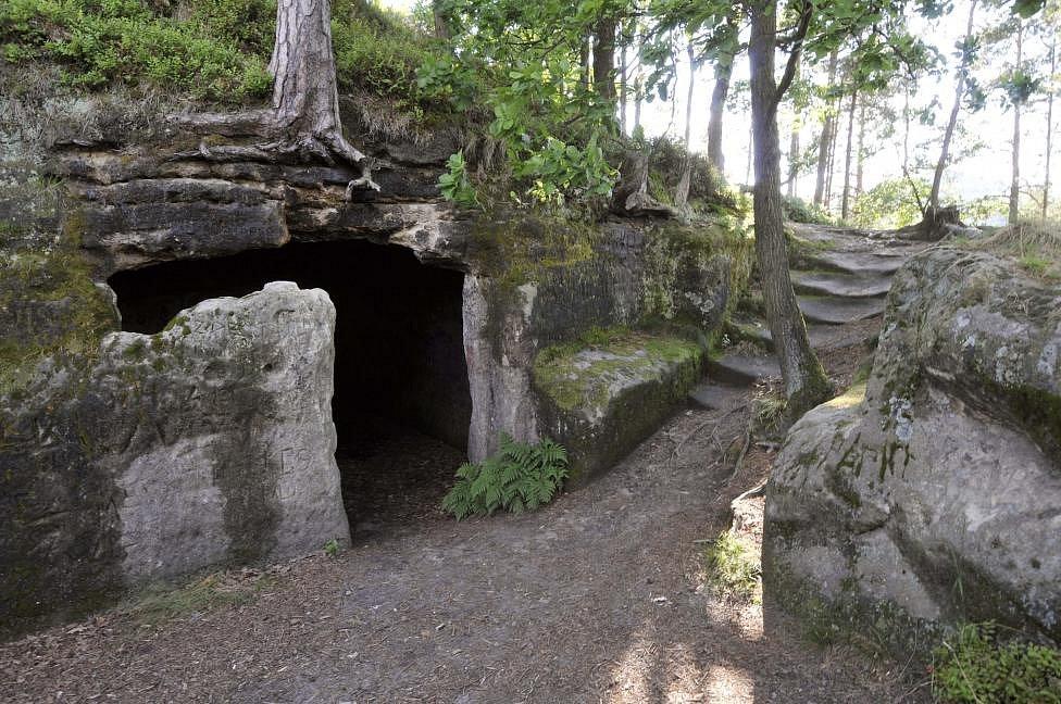 Skalní hrad Stohánek.