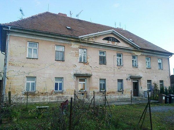 Dům na Mírovém náměstí vpůvodním stavu.
