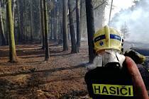 Požár v části obce Hradčany (Ralsko).