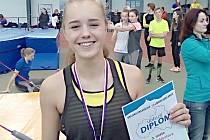 Třetí místo a bronzovou medaili si z Jablonce odvezla Natálie Měkotová.