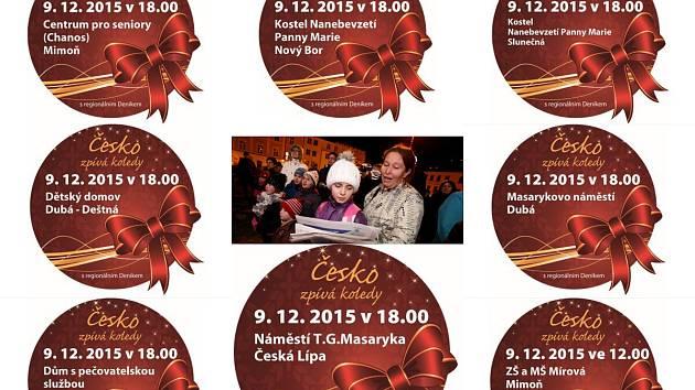 Na Českolipsku se letos bude zpívat na osmi místech, po celém severu Čech pak na více než 145 místech.