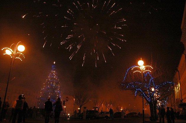 Silvestrovské oslavy na Masarykovo náměstí v Děčíně