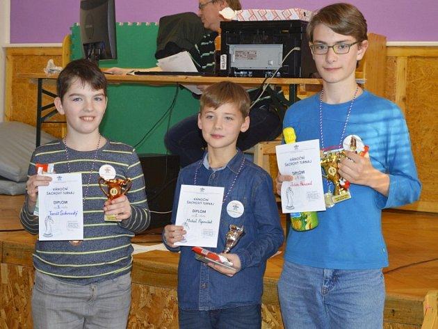 Vítězové nejsilnější skupiny: Julián Přenosil, Michal Papoušek, Tomáš Sichrovský.