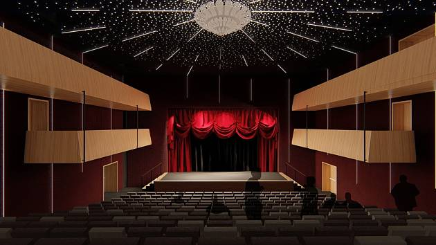Radnice ukázala interiéry budoucího divadla.