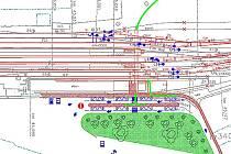 Nový terminál vyroste u malého parčíku v Bulharské ulici (zelená plocha).