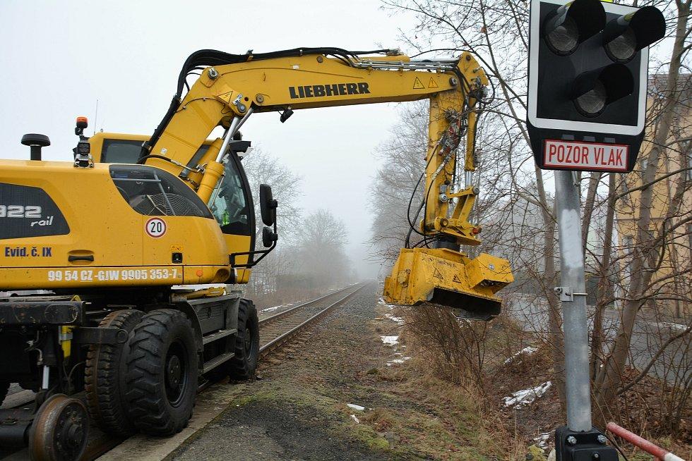 Drtič větví zastavil vlaky na Českolipsku.