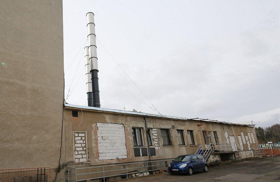 Nové moderní krematorium XXL v Novinách pod Ralskem na Českolipsku.