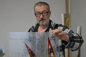 Milan Drábek ze Svoru, vitráže