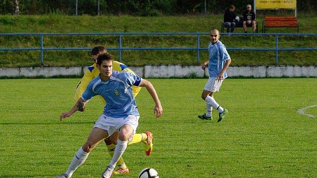 Fotbalista Stráže pod Ralskem Radim Věchet.