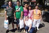 Reprezentanti z Lípy. Všichni sportovci z českolipského klubu Naděje přivezli z Brna medaili.