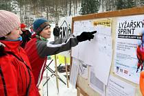 Sprinterské klání o pohár města Nový Bor v běhu na lyžích.