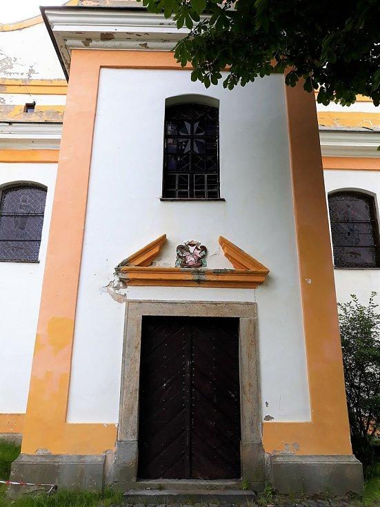 Kostel svaté Anny ve Skalici u České Lípy.