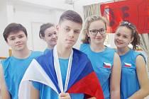 Studenti českolipského gymnázia po návratu z Malty.