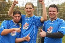 Michal Kopecký (uprostřed) dal během října 14 gólů a za celý podzim 19.
