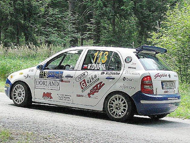 MARTIN KOUŘIL se představil na Rally Vysočina s číslem 113.