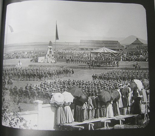 Snímek zpoložení základního kamene krajského soudu 22.září 1896.