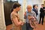 Tiše a ve spánku, těsně před svými 99. narozeninami zemřel Vlastimil Pospíchal. Sklářská legenda z Nového Boru.  (Foto z vernisáže výstavy v dubnu 2018 ve Sklářském muzeu Nový Bor)