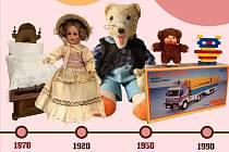 Nová expozice hraček pro holky i kluky z let 1870 - 1990.
