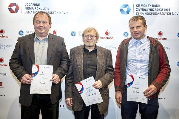 GE Money Bank Živnostník roku 2014Libereckého kraje: Jan Hradecký (2.místo), Jaroslav Skuhravý (1.místo), Petr Klamt (3.místo).