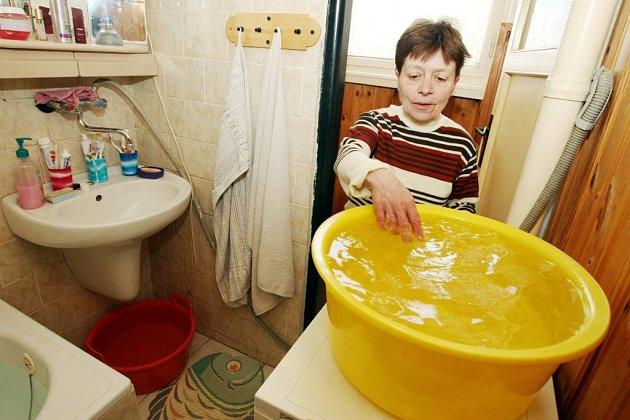 Obyvatelé domu v mimoňské čtvrti Letná se opět ocitli bez vody.