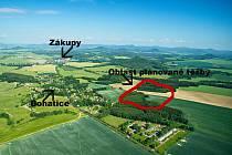 Prostor sice formálně patří do katastru Pertoltic pod Ralskem, případná těžba by ale ovlivnila hlavně obyvatele sousedních Bohatic.