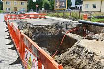 Rekonstrukce plynovodu (ilustrační foto).