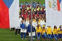 Slavnostní zahájení Olympiády dětí a mládeže v Olomouci.
