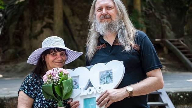 Stříbrná svatba Koptových v Lesním divadle.