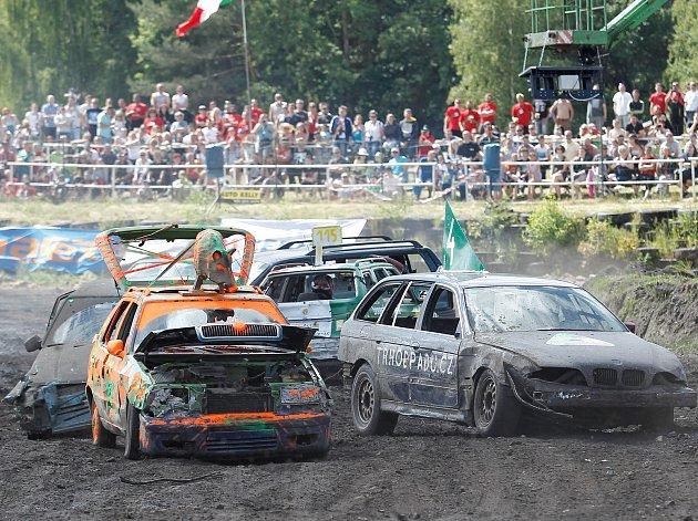 Sosnová autodrom Destruction derby 2017 autovrak bouračka