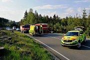 Dopravní nehoda na silnici mezi Doksy a Mimoní.