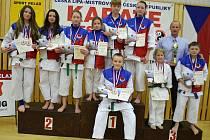 Domácí karate klub Sport Relax v celkovém pořadí obsadil bronzovou příčku.