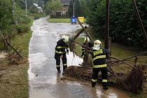 Sobotní lokální záplavy v Kamenici u Zákup.