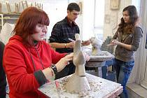 Šenovská sklářská škola hostila letos v únoru skupinu německých studentů.