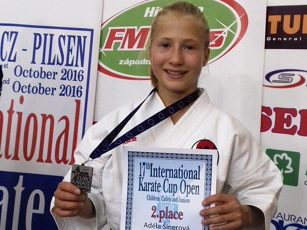 Adéla Šinerová vybojovala stříbro na EURO GP.