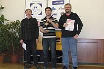 NEJLEPŠÍ. Zleva: bronzový Polák Boguslaw Latas, vítěz Pavel Šimáček a bronzový Lukáš Klíma.