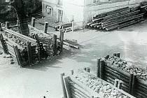 Rok 1945 v Kamenickém Šenově – protitanková uzávěra.