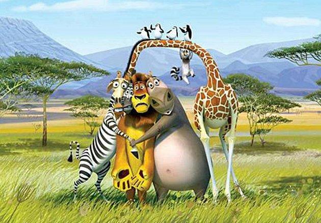 Oblíbení hrdinové jsou zpět. Madagaskar 2 se v sobotu promítá na nádvoří zámku ve Stráži pod Ralskem.