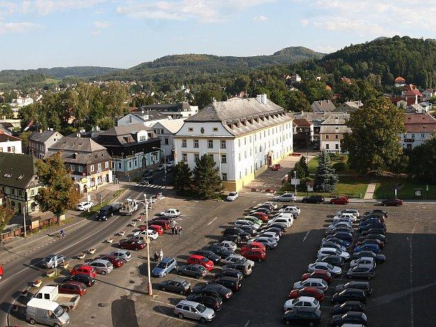 Mimořádně zpřístupněnou věž kostela Nanebevzetí Panny Marie v Novém Boru na Českolipsku mohli zájemci navštívit 11. září.