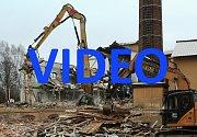 Demolice bývalé továrny Severka ve cvikově tmb