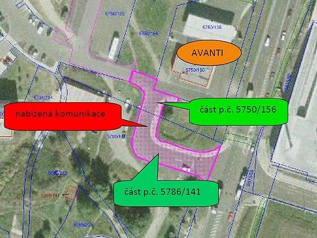 Silnici za skoro tři miliony koupí od soukromníka město Česká Lípa. Postaví na ní chodníky a přechod.