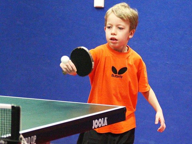 Nejmladší účastník turnaje Jan Gabriel (Loko Česká Lípa).