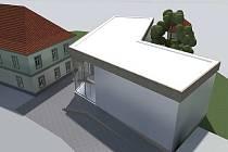 STUDIE. Přístavba Domu humanity v českolipské Dubici vznikne v místě, kde stával denní stacionář, který na začátku února 2012 vyhořel.