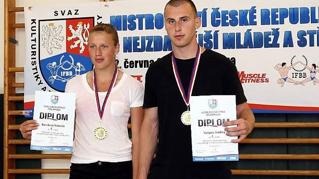 VÍTĚZOVÉ MČR: Daniela Bendová a Andrej Kašpur.