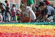 Den Země oslavily děti před DDM Libertin.